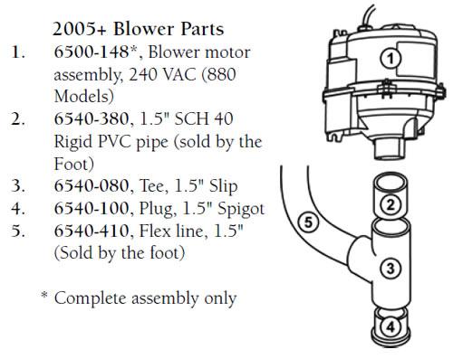 Spa Air Blower Diagram